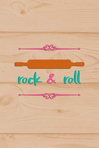 Rock & Roll: Blank Lined Notebook Journal Diary Composition Notepad 120 Pages 6x9 Paperback ( Baking ) Wood Non-stick Sheet