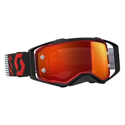 Scott Prospect Goggle Motocrossbrille Fahrradbrille Enduro Quad Atv Mountainbike DH Offroad MX FR Brille schwarz rot verspiegelt