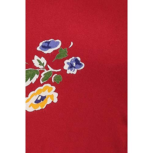 MOON TOUCH Maroon Women's Floral Print Flared Kurta