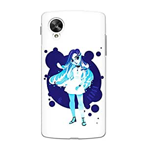 CrazyInk Premium 3D Back Cover for Nexus 5 - Pearl Girl