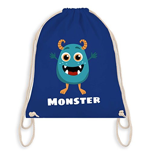 Partner-Look Familie Kind - Monster Partner-Look Kind - Unisize - Royalblau - WM110 - Turnbeutel & Gym Bag