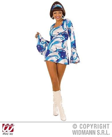 S58042b déguisement robe hippie des années 1970 panel taille m (bleu)