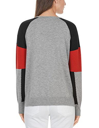Marc Cain Sports Pullover, Pull Femme Mehrfarbig (Grey 820)