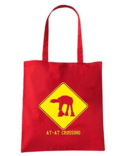 T-Shirtshock - Borsa Shopping TR0005 AT-AT Crossing T-Shirt Rosso