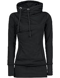 Tefamore Pull en Vrac Mode féminine T-Shirt à Manches Longues Blouse