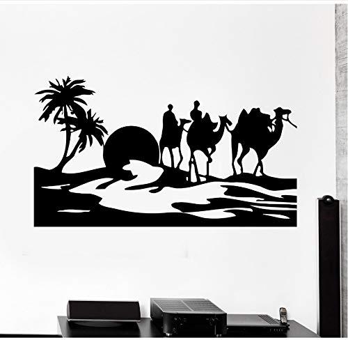 zwyluck Kamel Wüste Oase Mirage Home Art Wandaufkleber Vinyl Wandtattoos Wohnzimmer dekoriert mit...