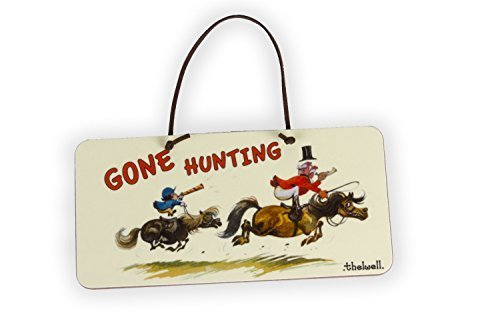 Thelwell 'gone hunting door sign by regali per chi horse ride.