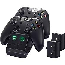 Venom Twin Docking Station für Xbox One - Ladestation für Xbox one Controller inklusive 2 Zusatz Akkus