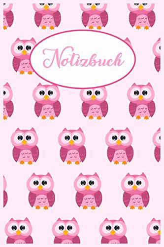 otizbuch   Motiv: Pinke süße Eulen   110 Seiten, liniert   Format 6x9 DIN A5   Soft cover matt   ()
