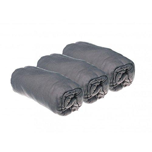 3Spannbetttücher Jersey Baumwolle–40x 80ausziehbar bis 40x 90–grau