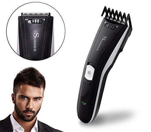 HC-596 Maquinilla corta pelo con dos peines funciona a bateria y corriente