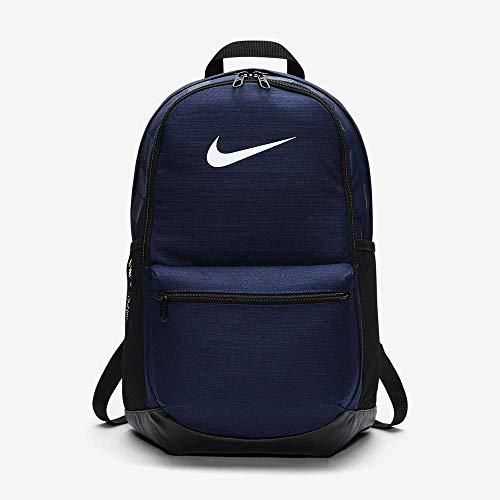 Nike Unisex-Erwachsene Nk Brsla M Bkpk Rucksack, Blau (Midnight Navy/Black /),  45,5 x 30,5 x 18 cm