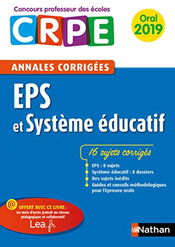 Annales EPS & Système éducatif - Oral 2019