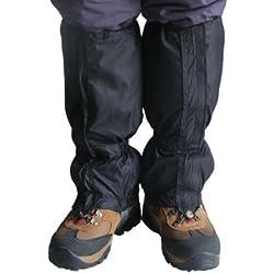 Accessotech - Guêtres imperméables - Pour randonnée, escalade, chasse, trekking et neige - Paire, noir