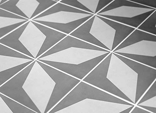 MoonStickers Fliesenaufkleber Decals - Packung mit 10 Fliesenaufkleber - 10 Einzelne Fliesen - Fliesenaufkleber (Fußboden - 33 x 33 cm, Four-Pointed Star Fliesenaufkleber)
