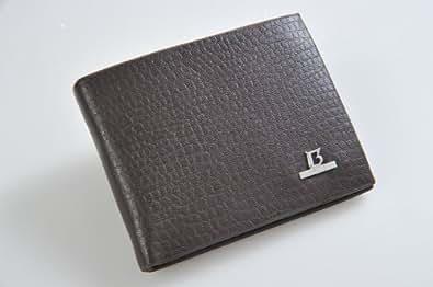 Balisi Men's Porte-monnaie pour homme / bourse / pochette en similicuir avec des compartiments pour carte d'identité / carte de crédit / carte SIM, noir (2021-1 FR)