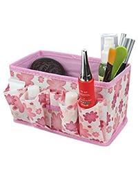 waygo nuevo maquillaje cosmético caja de almacenamiento bolsa brillante Organizador plegable Papelería Container (color rosa)