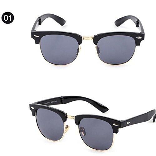 Btruely Unisex Sonnenbrille Sommer 2018 Neue Fahrbrille Polarisierte Sonnenbrille Mode Glasses Nachtsichtbrille Fahrbrille Mode Klassische Sportbrille Klassische Gläser Gefaltete Gläser (A)