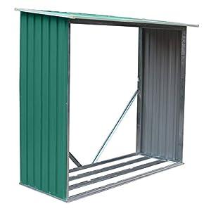GARDIUN KIS12966 – Leñero Holman 1,37 m² Exterior 75 x 182 x 160 cm Verde