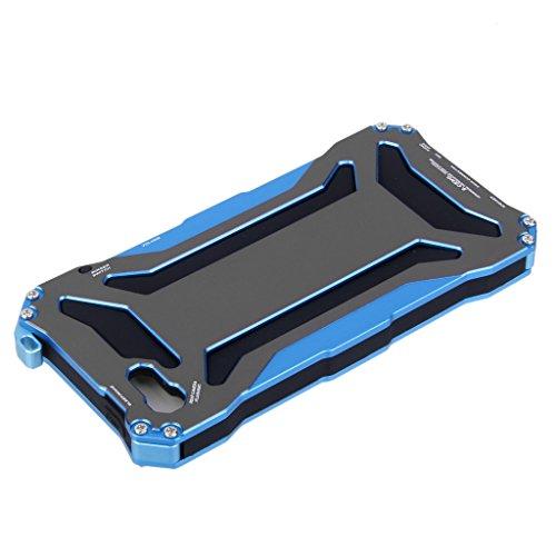 Coque Housse de Protection Boîtier Etanche en Métal Mode Antichoc - Noir, pour iPhone 5 5S SE Bleu