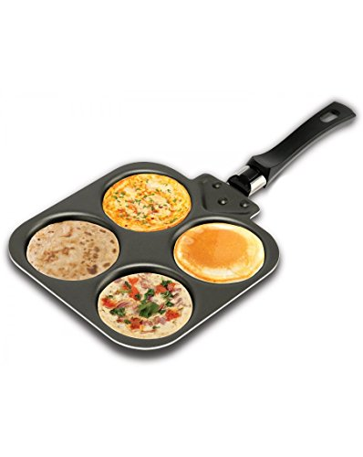 Nirlep Multi Snack Maker, Aluminium, Black, 1 Piece