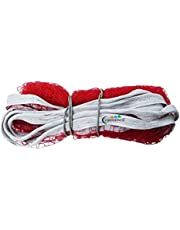 Credence 4 Side Tape Nylon Badminton net red (Pack of 1) (Red)