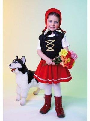 Generique - Rotkäppchen Kinder-Kostüm für Mädchen bunt 116/128 (6-8 Jahre) (Rotkäppchen Kostüm Kinder)