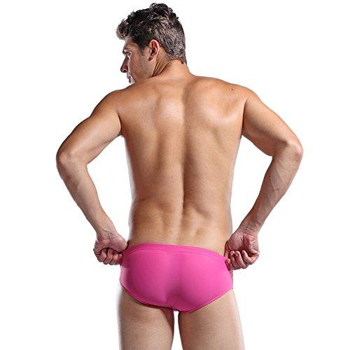 Lantra Besa Herren Badehose Slips Bikini Bottom für Sommer Schwimmen mit Elasthan Eng Elastisch Strand Bekleidung Typ 3 Rosa