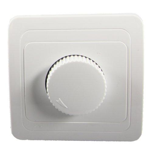 Dimmer Wechselschalter Schalter mit Rahmen Steckdose unterputz Weiss