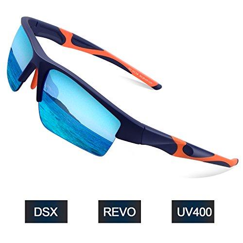 Elegear Sport Sonnenbrille Herren Sportbrille Damen Fahrradbrille mit UV 400 Schutz Fuer Autofahren Laufen Radfahren Golf Outdoor Aktivitäten