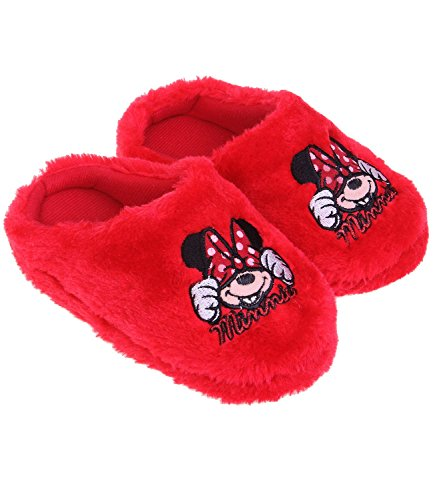 Disney Minnie Fille Chaussons - rouge Rouge