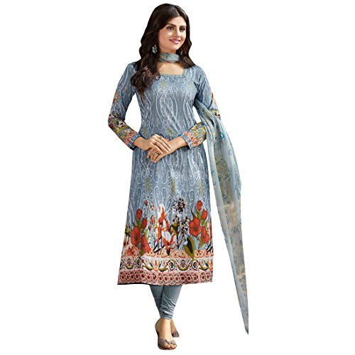Varayu Women's Cotton Printed Multicolor Festive Wear Salwar and Dupatta Materials