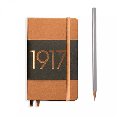 Special Edition. LEUCHTTURM1917Hard Cover klein 9,4x 15cm (A6) Pocket Notizbuch, Kupfer Metallic, liniert/liniert -