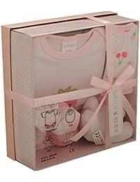 Bebé recién nacido Juego de regalo con el mono , baberos , juguetes, calcetines en