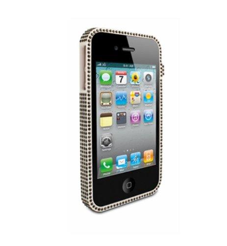 Cable technologies ctir-lux-bk custodia a cornice swarovski per iphone 4-4s, nero