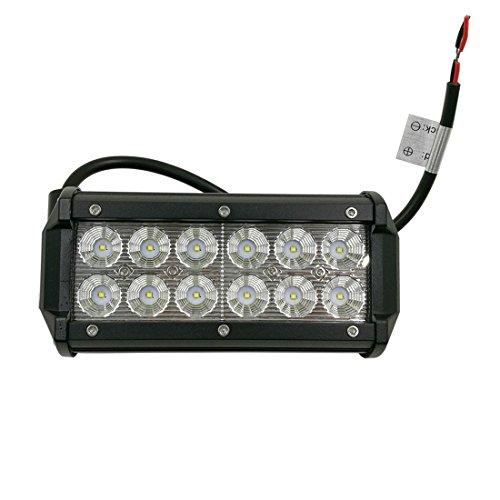 LARS360® 36W LED Light Bar Auto Arbeitslicht Scheinwerfer CREE Spot Flood Combo Schwarz Wasserdicht für Offroad SUV ATV UTV Arbeitslampe Traktor Bagger LKW KFZ -