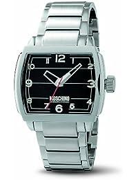 Moschino MW0113 - Reloj analógico de caballero de cuarzo con correa de acero inoxidable plateada - sumergible a 50 metros