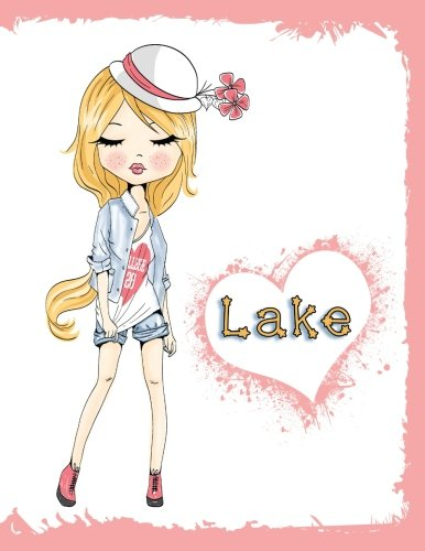 Lake: Personalized Book with Name, Journal, Notebook, Diary, 105 Lined Pages, 8 1/2