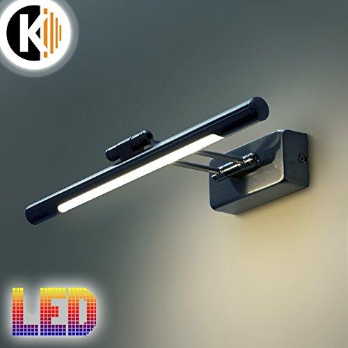 LED Leuchte Wandleuchte ALINE 5W - 360lm CHROM IP20 Warmweiss 4000K Bilderleuchte Innenlampe Wandlampe Spiegelleuchte Gartenleuchte Flurleuchte 230V