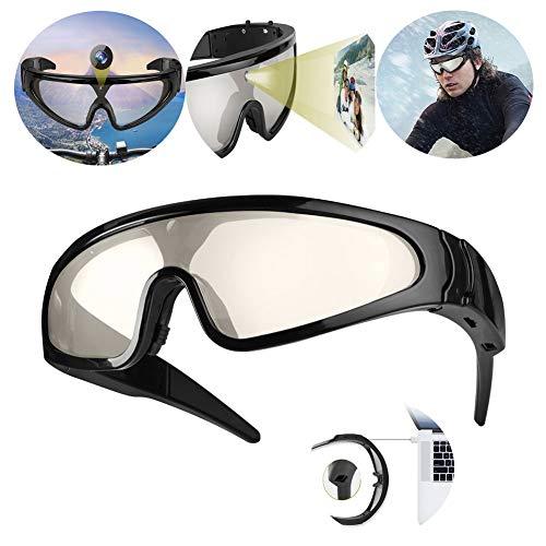YLOVOW Im Freien Wasserdichte Video Sonnenbrille, Full HD 1080P Video-Aufnahme-Kamera, 2 Stunden Akkulaufzeit mit polarisiertem Sicherheit Linsen mit UV400 Schutz, Unisex,32GTF
