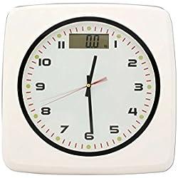 Bilancia pesapersone digitale con orologio bianco fino a 150kg STEP on