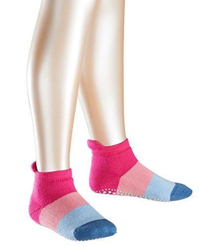 FALKE Kinder Stoppersocken Colour Block - 90% Baumwolle, 1 Paar, Rosa (Gloss 8550), Größe: 31-34