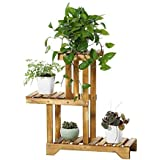 Sharpex Decorative Solid Wood Multi-Layer Wooden Plant Stand for Home & Garden, Indoor & Outdoor Plant Stand - Brown (68 X 68 X 25 cm)