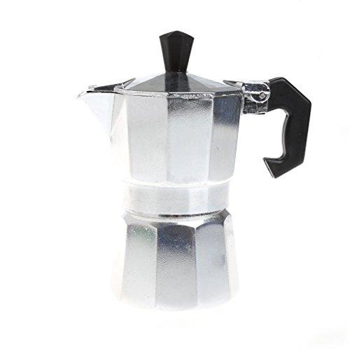 Dabxxxi Latte Mokka Kaffeekocher Herd Top Espressokocher Werkzeug Aluminium Mokka Pot - 1 Tasse