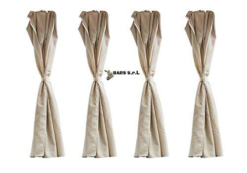Bars easy-shop teli laterali 3x3 4 teli laterali di ricambio ecru' gazebo elegance