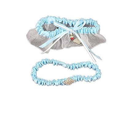 TRLYC Crystal Wedding Lace Garter Set Bridal/Wedding Stretch Rhinestone Garter Set