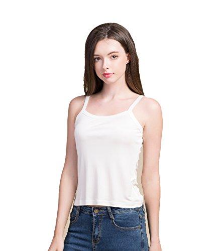 Tulpen Women's Pure Silk Underwear Casual Printed Double Knit Fabric Weiss XL