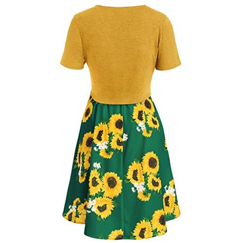 Damen Kurz Latzhose Vintage Drucken Jumpsuit Sonnenblume Leopard Playsuit Shorts Sommer Chic L/ässig Hotpants mit Taschen