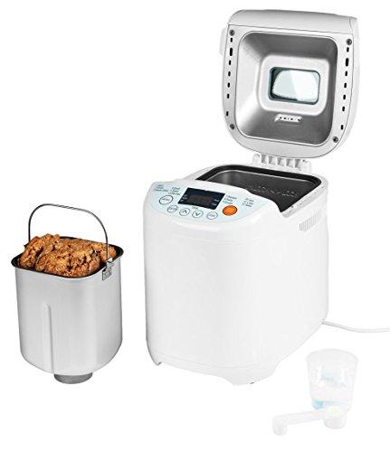 MEDION Micromaxx (MD 14752) Brotbackautomat 580 Watt, 700-1000g, 12 Backprogramme, 3 versch. Bräunungsgrade, Warmhaltefunktion weiß