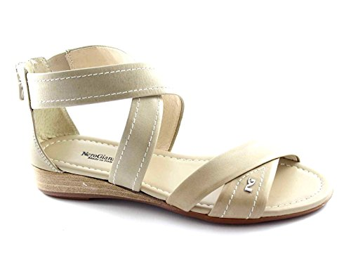 NERO GIARDINI 15560 sabbia scarpe donna sandali intreccio zip Beige